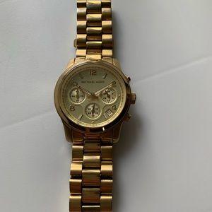 Michael Kors Runaway Gold-Tone Watch